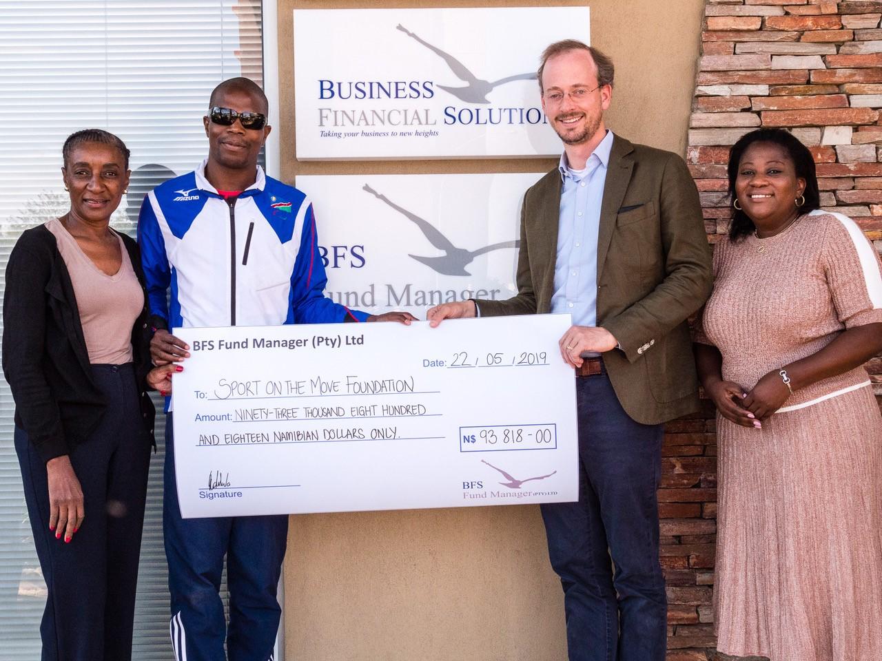 BFS handover cheque for foundatin
